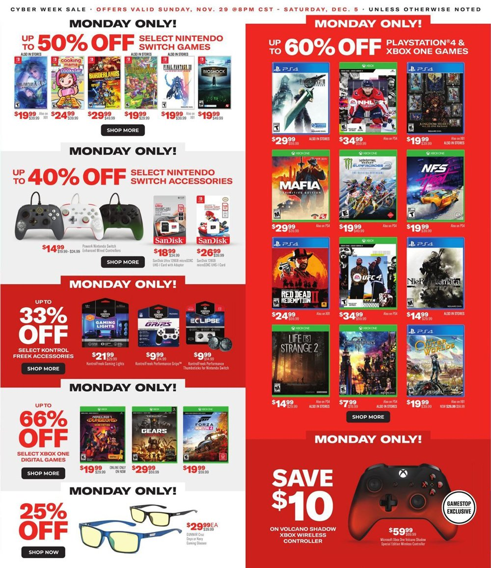 GameStop Cyber Monday 2020 Page 2