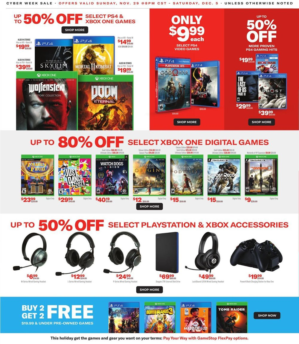 GameStop Cyber Monday 2020 Page 3