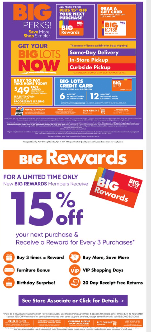 Big Lots Weekly April 10 - April 18, 2021 Page 8