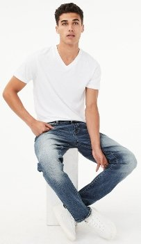 Real Denim Athletic Skinny Stretch Jeans