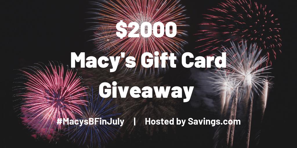 Win a Macy's gift card!