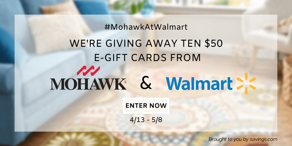 Win a $50 Visa e-gift cards from Walmart!