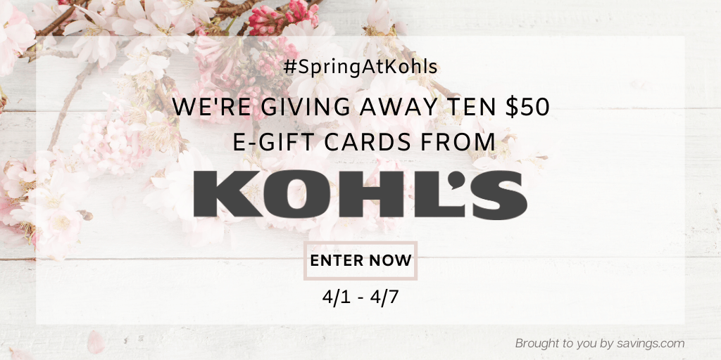 Win a $50 e-gift card from Kohl