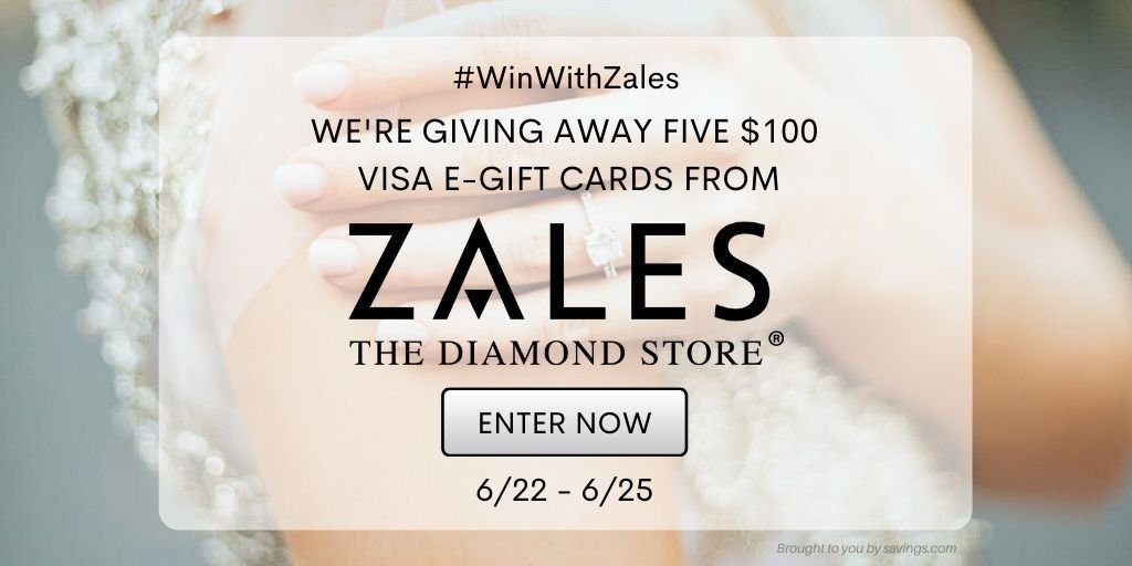 Win a $100 Visa e-gift card from Zales