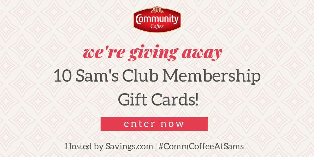 Win a Sam's Club Gift of Membership Gift Card!