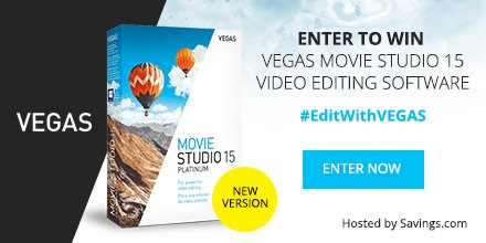 Are you looking for expert or novice level video editing software? Grab VEGAS Movie Studio Video Editing Software and save up to 35%! Plus giveaway!