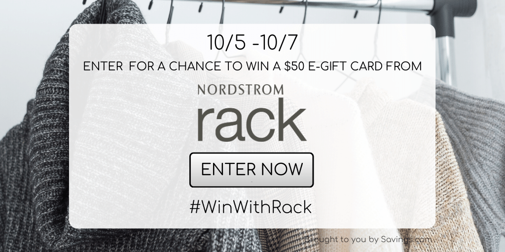 Win a $50 e-gift card from Nordstrom Rack!