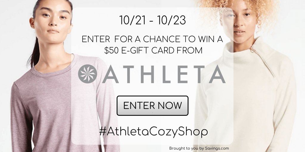 Win a $50 e-gift card from Athleta.