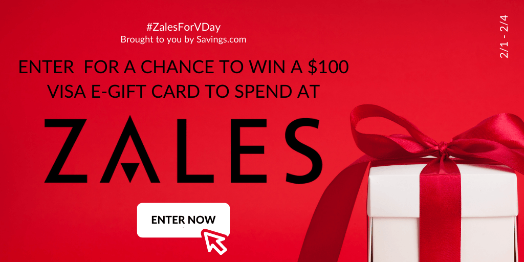 Win a $100 Visa e-gift card to spend at Zales.