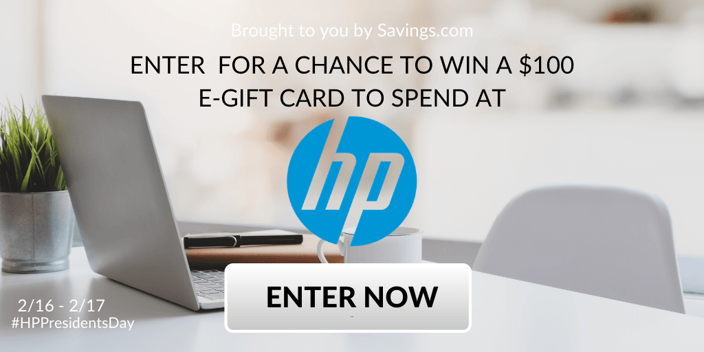 Win a $100 Visa e-gift card to spend at HP.