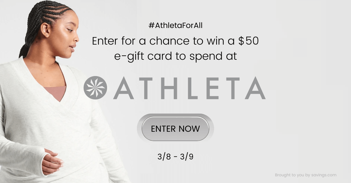 Win a $50 e-gift card to spend at Athleta.