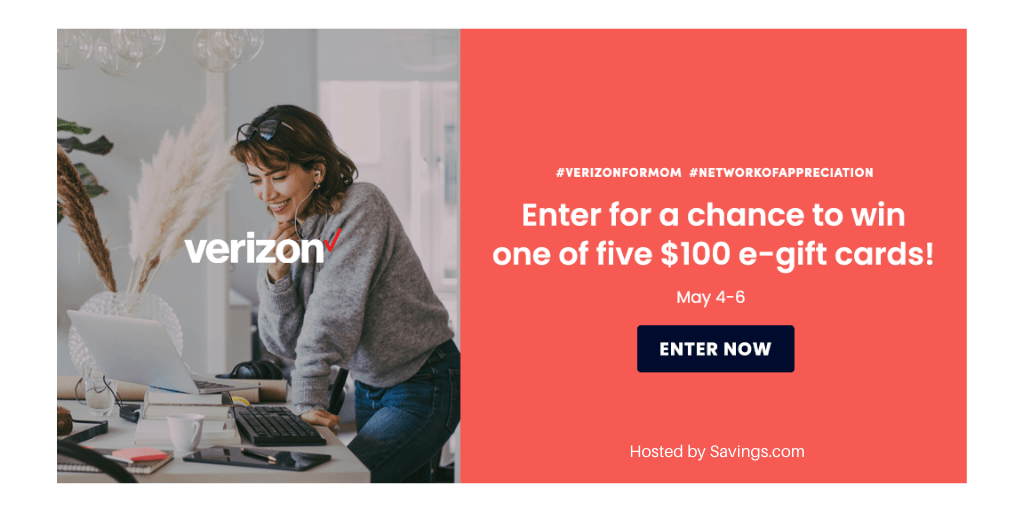 Win a $100 gift card from Verizon!