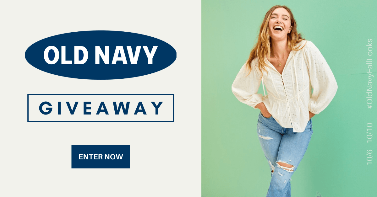 Enter for a chance to win a $100 e-gift card to spend at Old Navy!